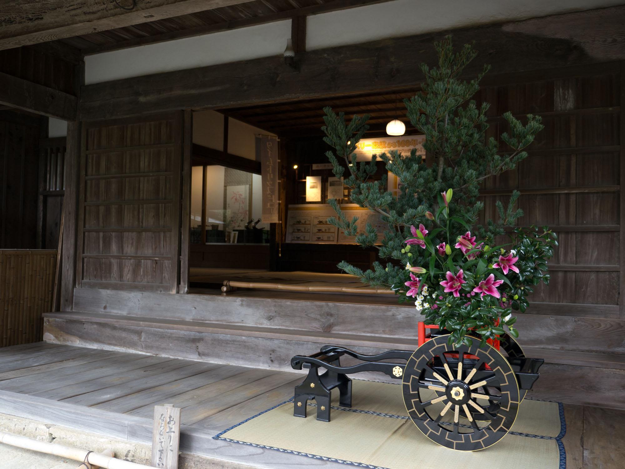 江川邸をジオ生け花で表現
