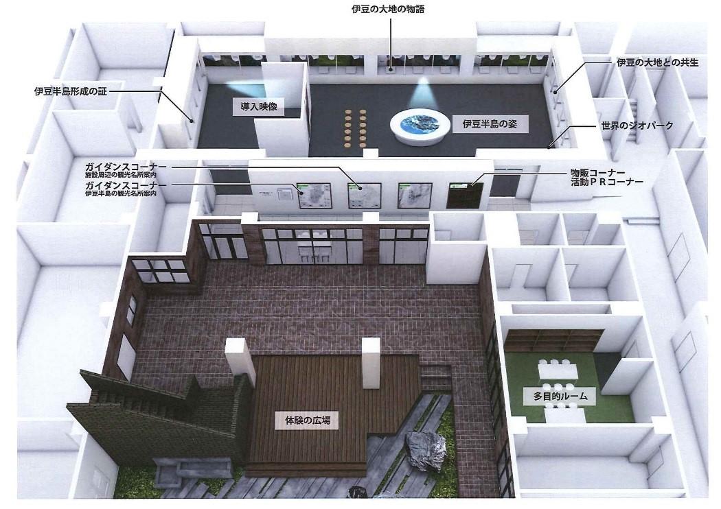伊豆半島ジオパーク 中央拠点施設イメージ