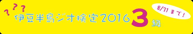2016年度 伊豆半島ジオ検定3級